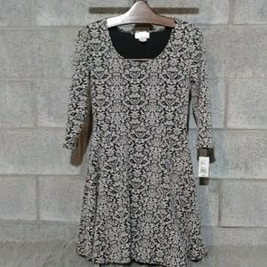 NWT Skater Girl Dress Black & Gray Print
